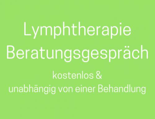 Kostenloses Lymphtherapie Beratungsgespräch