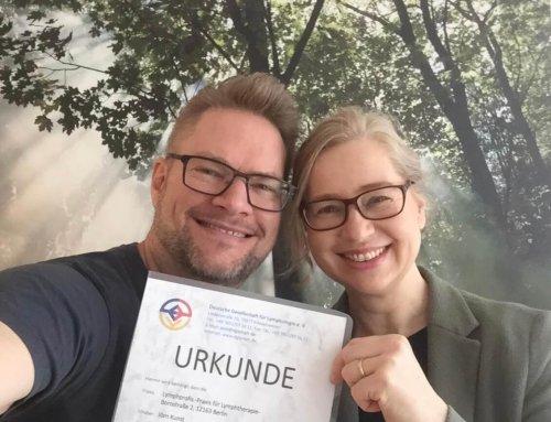 Lymphprofis erste vom DGL zertifizierte Schwerpunktpraxis in Deutschland